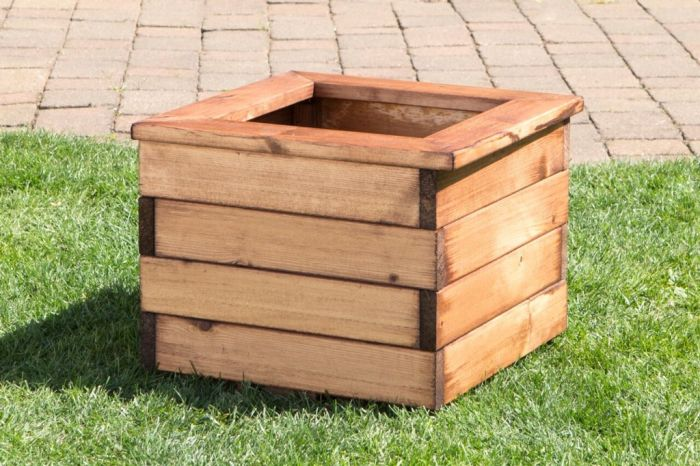 Charles Taylor Small Wooden Planter W41 X D41 X H31cm