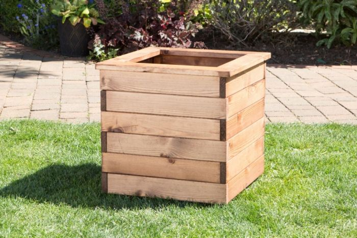 Charles Taylor Large Wooden Planter W47 X D47 X H38cm