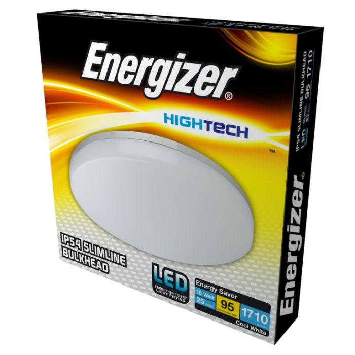 Energizer Ip54 Slimline Bulkhead Cool White 18W