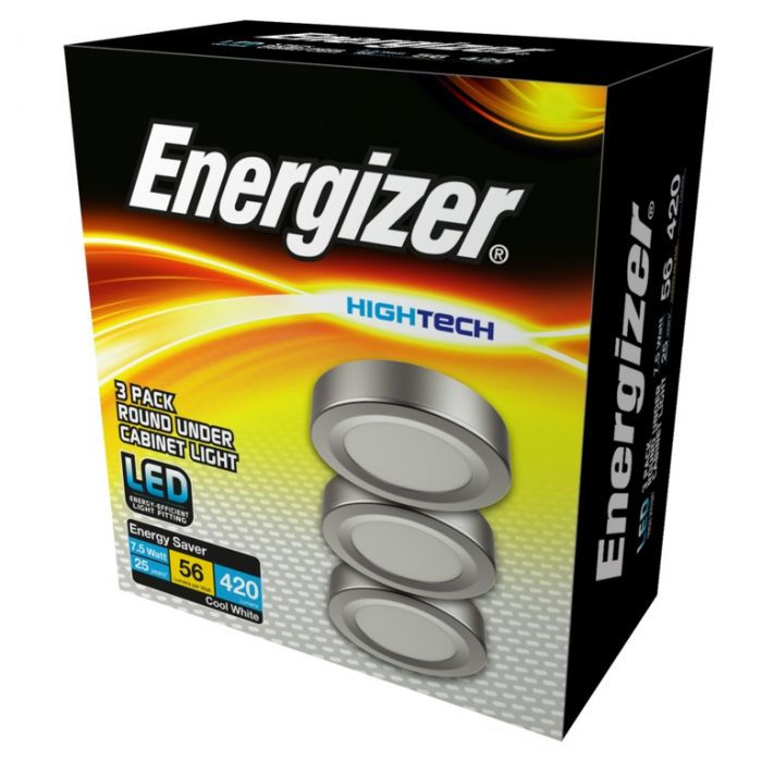Energizer Circular Under Cabinet Kit Cool White 3 X 3W