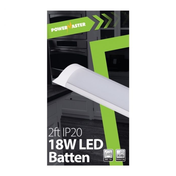 Powermaster Led Ip20 Batten 60Cm 18W