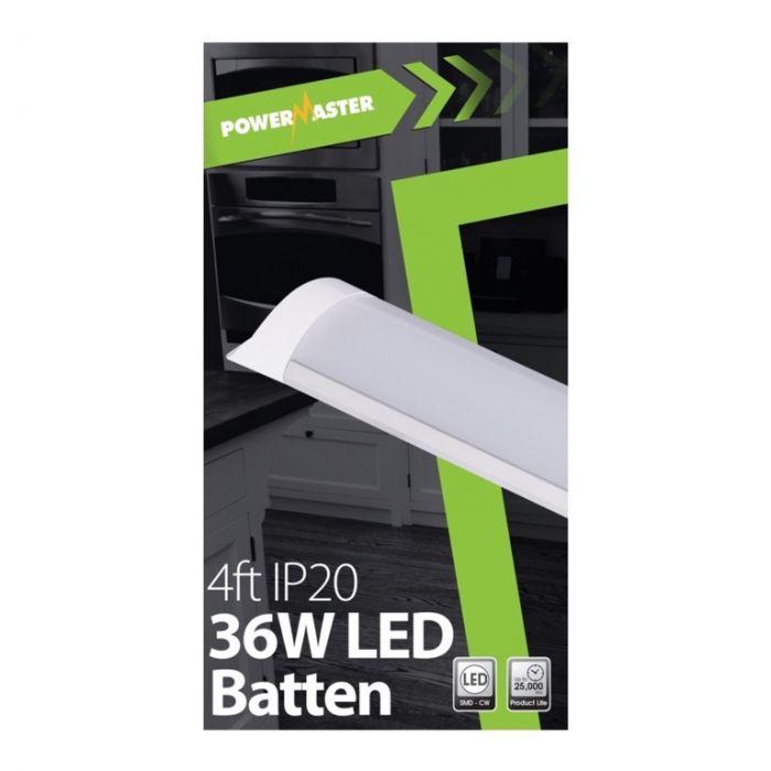 Powermaster Led Ip20 Batten 120Cm 40W