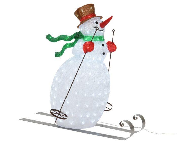 Led Acrylic Skiing Snowman