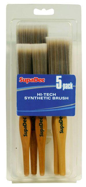 Supadec Synthetic Brush Set 2X1/25Mm 2X1.5/38Mm 2/50Mm 5 Piece