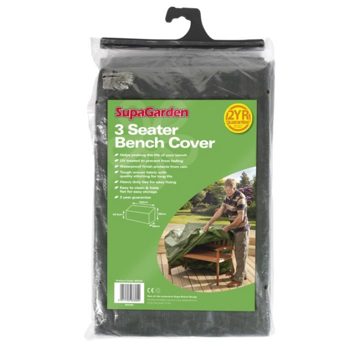 Supagarden Bench Cover 3 Seater W: 162Cm H: 63.5Cm-89Cm D: 66Cm