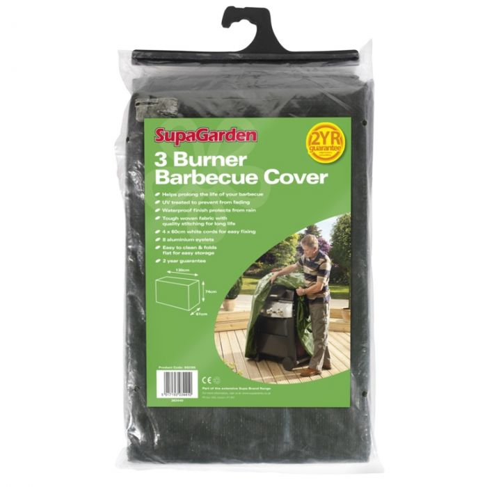 Supagarden 3 Burner Barbecue Cover 130Cm X 74Cm X 61Cm