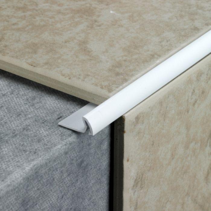 Tile Rite Tile Edging Standard 2.4M X 7Mm White