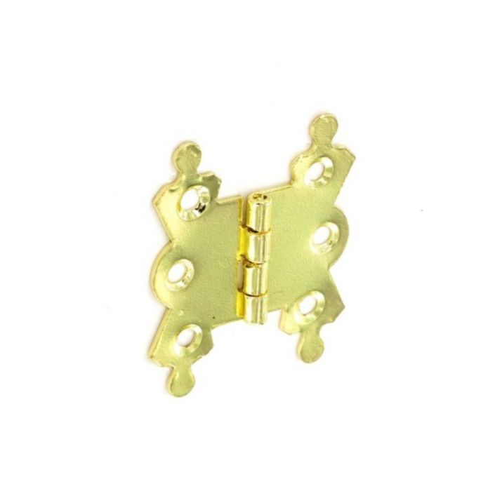 Securit Fancy Hinges Steel Brass Plated (Pair) 40Mm