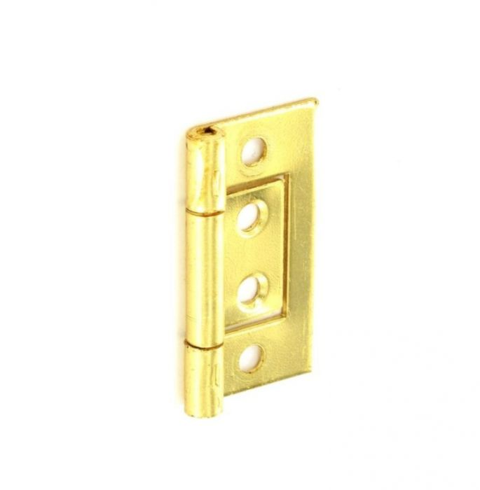Securit Flush Hinges Brass Plated (Pair) 75Mm
