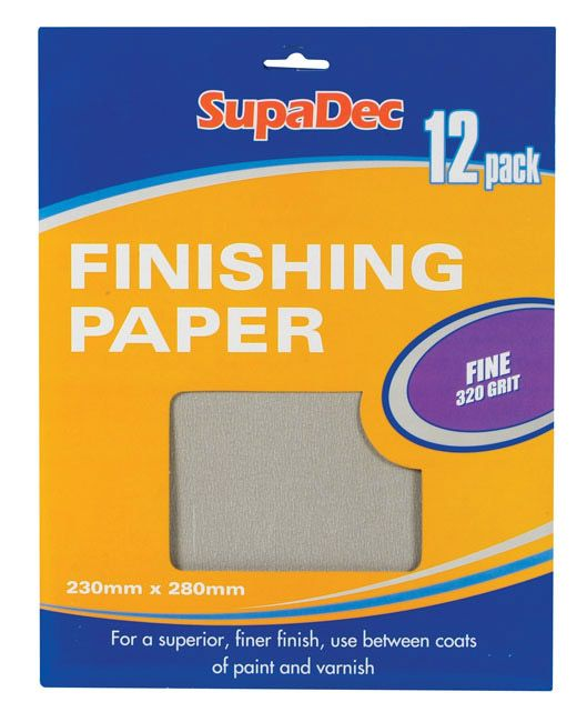 Supadec Finishing Paper 12 Sheets 320 Grit