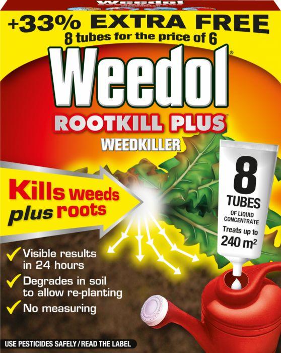 Weedol Rootkill Plus Liquidose 6 Tubes Plus 2 Free