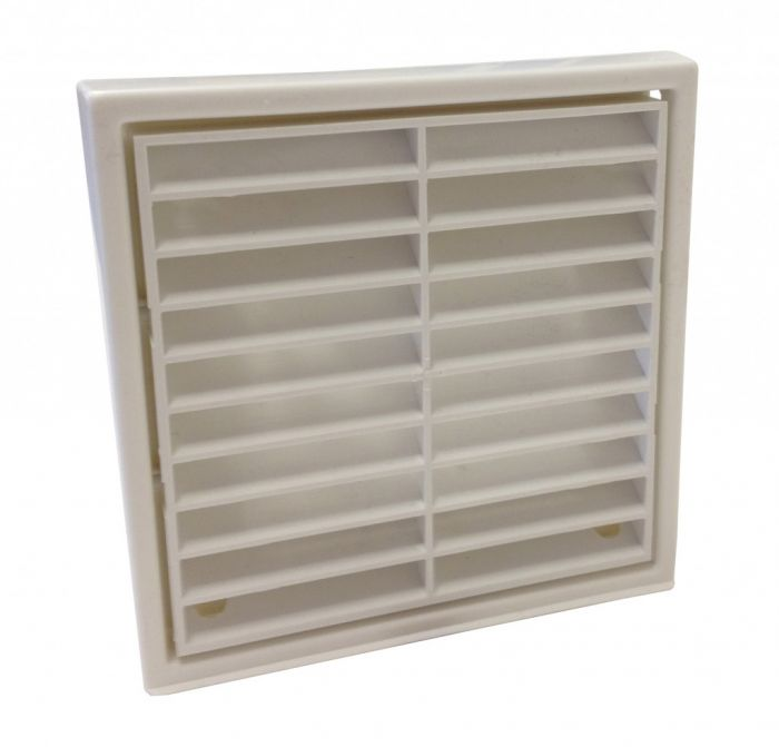 Manrose Fixed Grill 4 White