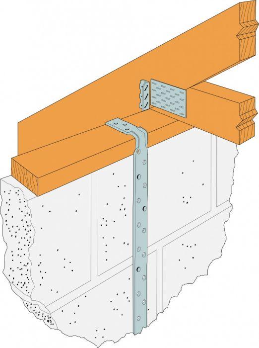 Simpson Strong Tie Light Engineered Strap Bent 1000Mm