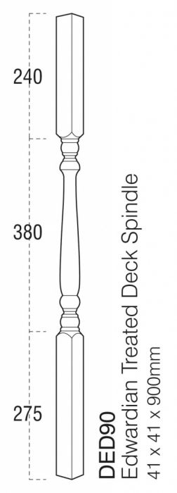 Cheshire Mouldings Decking Turned Spindle 41Mm