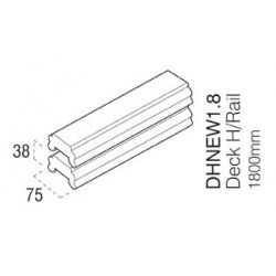 Cheshire Mouldings Decking Hand/Base Rail 1.8M