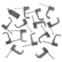 Supalec Cable Clips Flat Pack Of 100 10Mm - Grey