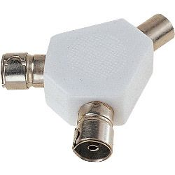 Dencon 2 Way Coax Splitter Bubble Packed