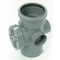Polypipe Access Pipe (Single Socket) 4/110Mm Black