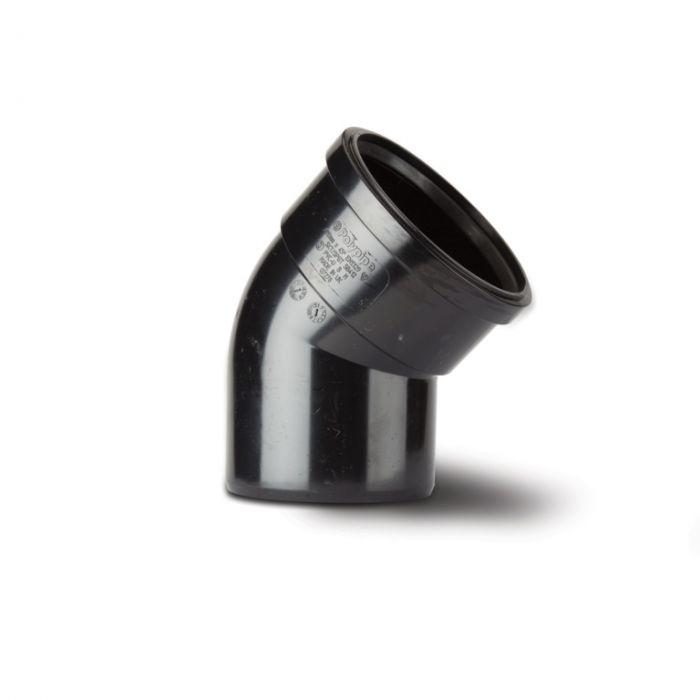 Polypipe Bend (Single Socket) 4/110Mm Black