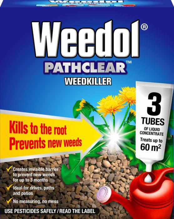 Weedol Pathclear Weedkiller 3 Tubes