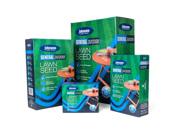 Johnsons Lawn Seed General Purpose 250G Carton Patch-Pack