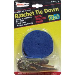 Streetwize Ratchet Tie Down 4.5M