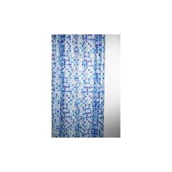 Blue Canyon Peva Shower Curtain 180 X 180Cm Mosaic Blue