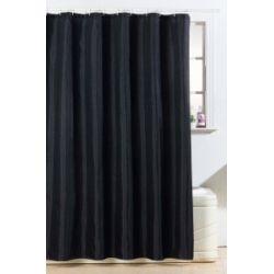 Blue Canyon Polyester Glitter Bling Design Shower Curtain Black