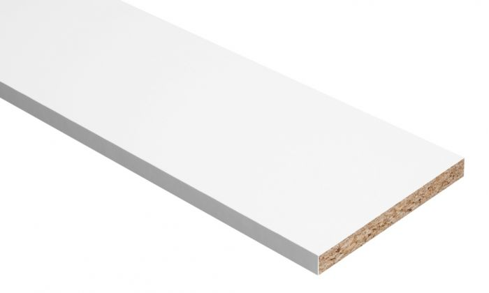 Hill Panel White Melamine Faced Chipboard 6Ft X 18