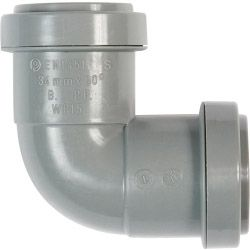 Polypipe Knuckle Bend Push Fit 90 Degrees 40Mm Grey