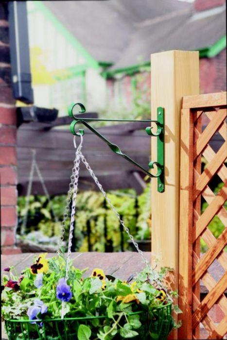 Ambassador Hanging Basket Bracket 25Cm/10 Green