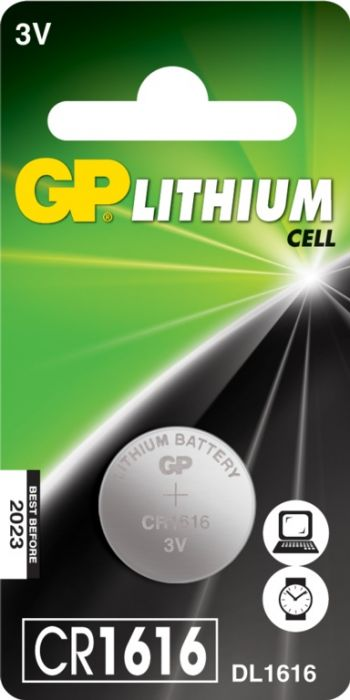 Gp Lithium Button Cell Battery Cr1616 Single