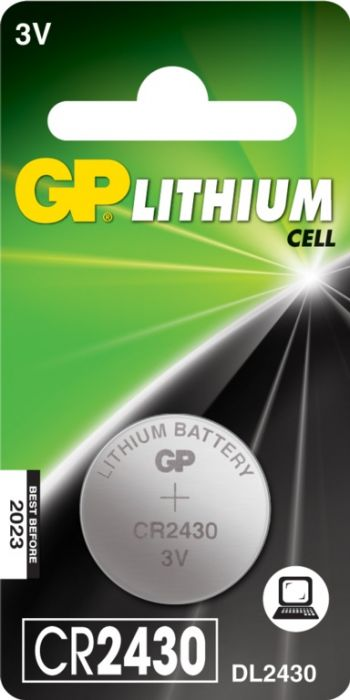 Gp Lithium Button Cell Battery Cr2430 Single