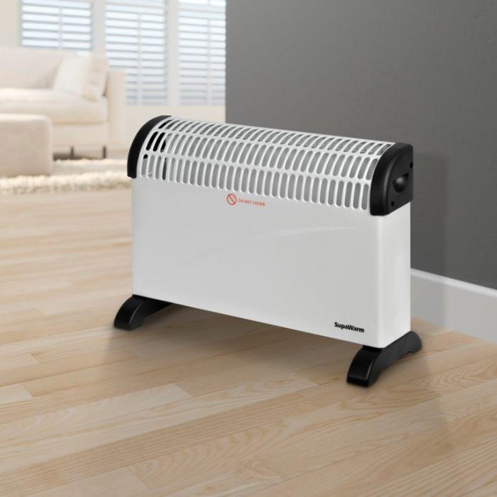 Supawarm Convector Heater 2000W Size: 535Mm(W)X200mm(D)X385mm(H)
