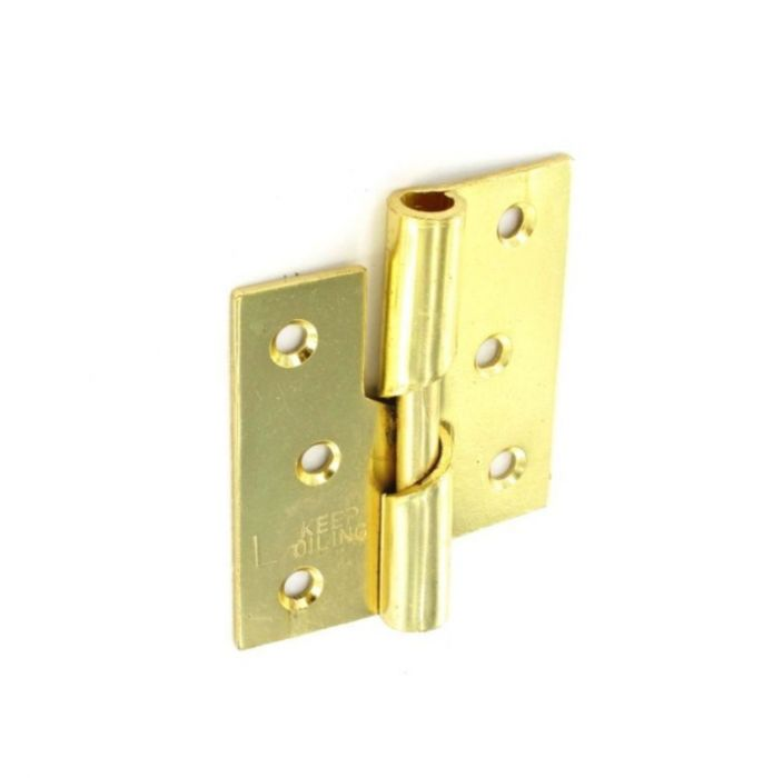 Securit Rising Butt Hinges Lh Brass Plated (Pair) 75Mm
