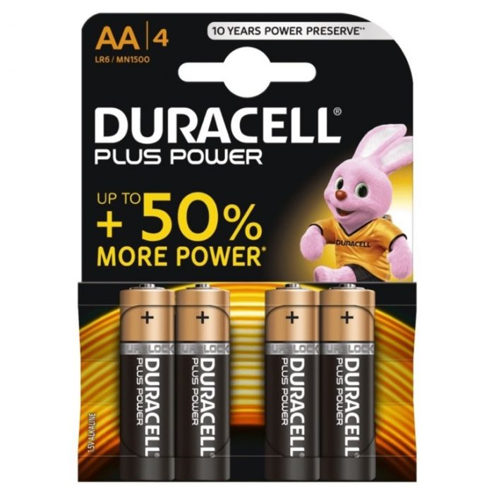 Duracell Plus Power Batteries Aa - Pack 4