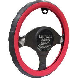 Streetwize Steering Wheel Glove Black/Red - Sports Grip