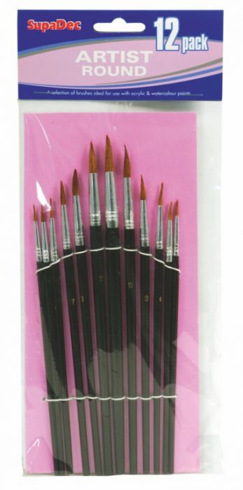 Supadec Artist Brush Set 12 Piece
