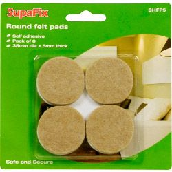 Supafix Round Felt Pads Pack 8 38Mm