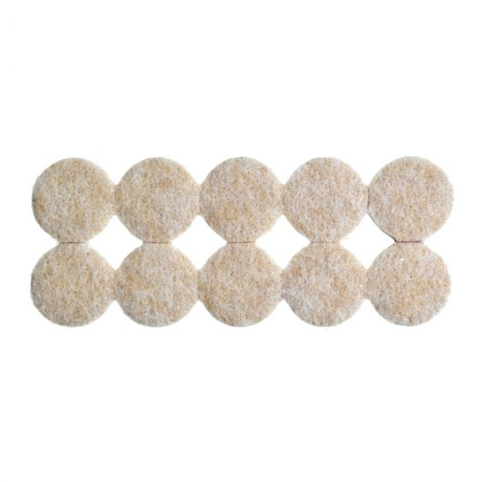 Woodside Round Felt Pads Pack 20 19Mm Dia X 5Mm Thick.