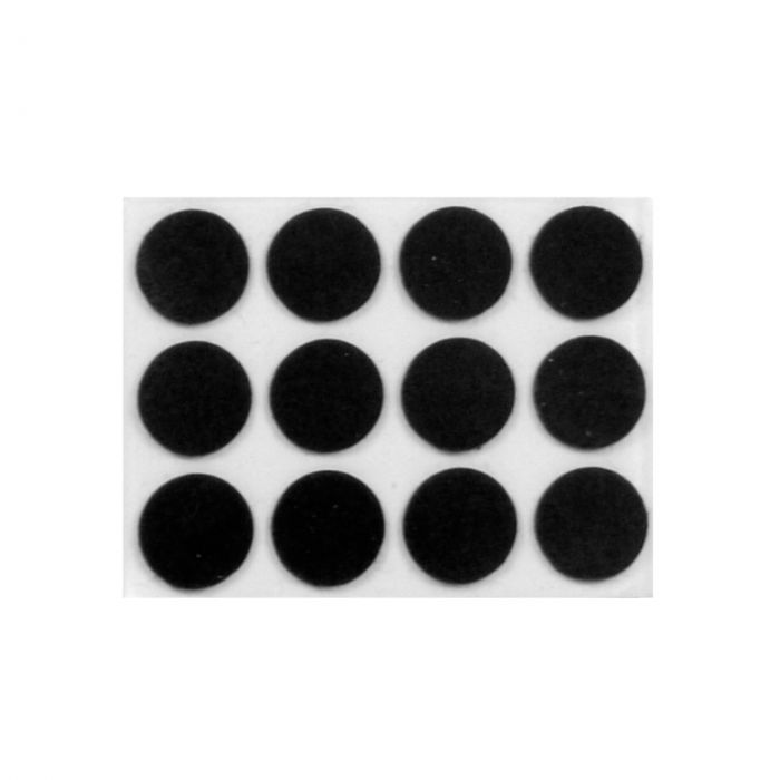 Supafix Round Felt Pads Pack 24 13Mm Dia X 3Mm Thick