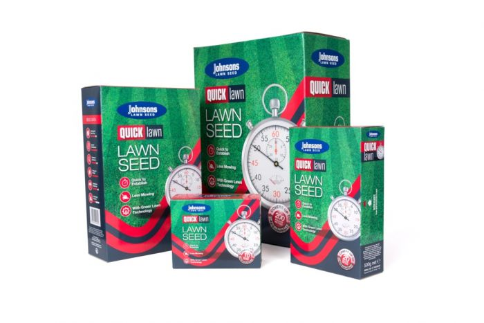 Johnsons Lawn Seed Quick Lawn With Gromax 500G Carton