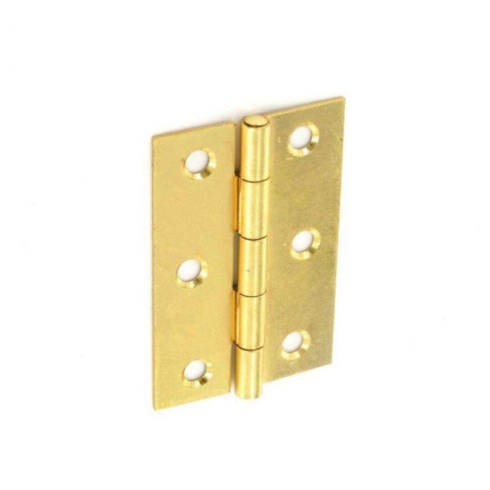 Securit Steel Butt Hinges Brass Plated (Pair) 75Mm