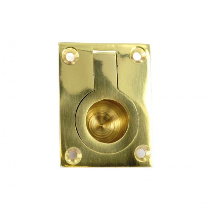 Securit Brass Flush Ring Handle 50Mm