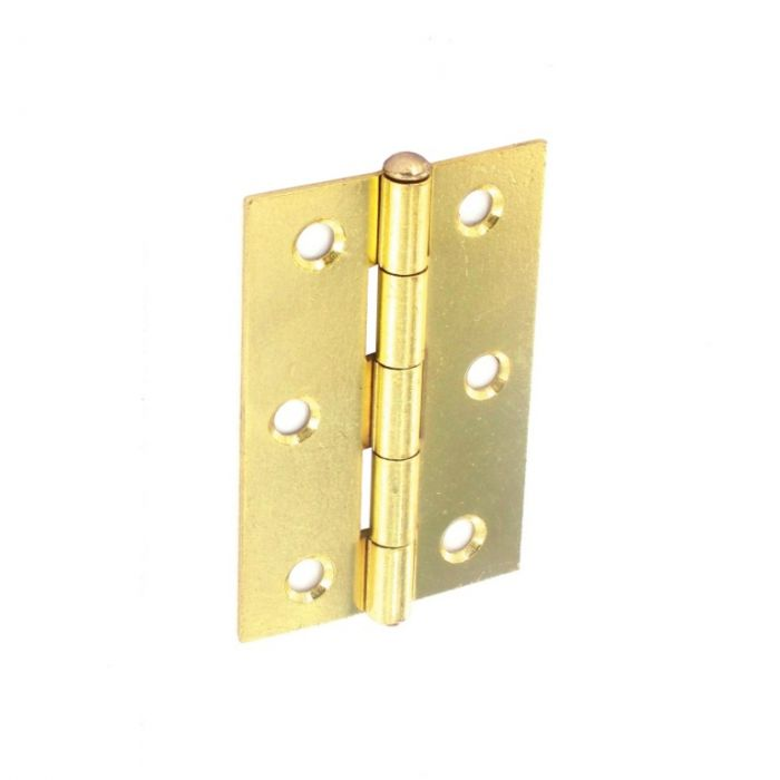 Securit Loose Pin Butt Hinges Brass Plated (Pair) 75Mm