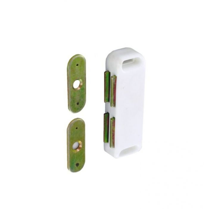 Securit Twin Magnetic Catch White