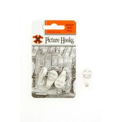 X Hard Wall Picture Hooks - White (Blister Pack) Medium