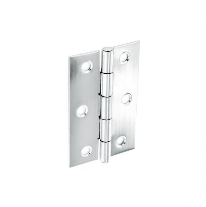 Securit Steel Butt Hinges Polished Chrome Plated (Pair) 75mm