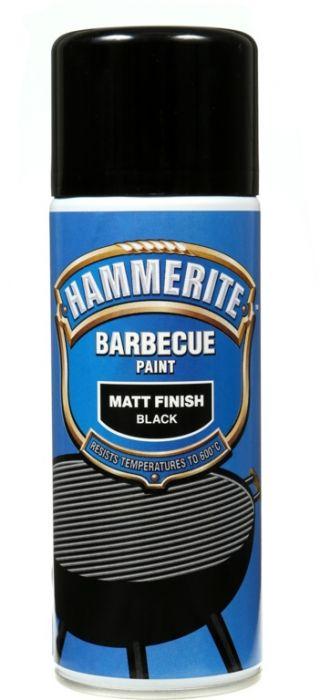 Hammerite Barbecue Paint 400ml Aerosol Matt Black