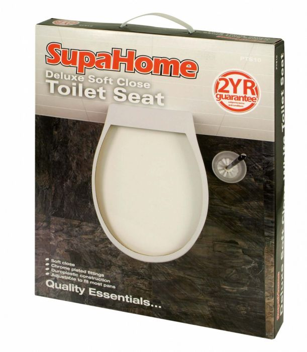 SupaHome Deluxe Soft Close White Toilet Seat